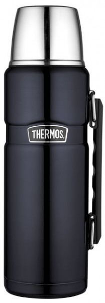 Thermos Stainless King Thermosflasche Edelstahl lackiert midnight blue 1,2 L