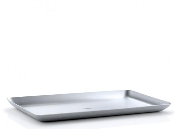 Blomus Basic Tablett Edelstahl matt 15,0 x 25,0 cm