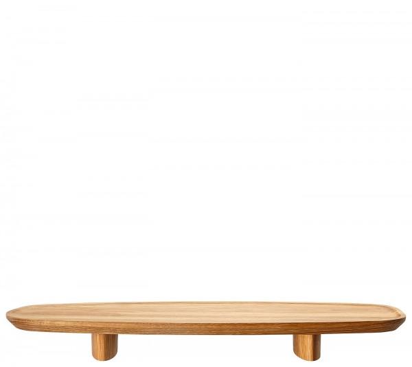 Rosenthal Junto Holz Tablett auf Fuß 45 x 16 cm