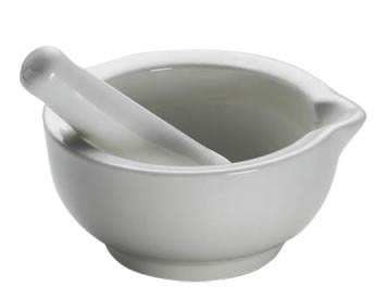 M&W White Basics Kitchen Mörser & Stößel 9 cm