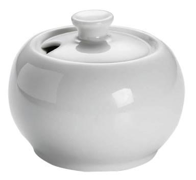 M&W White Basics Round Zuckerdose 0,14 L