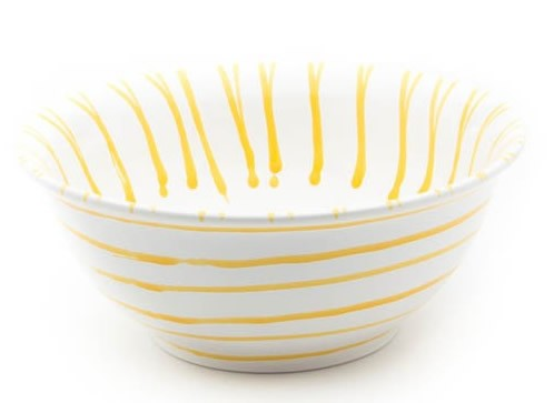 Gmundner Gelbgeflammt Salatschüssel 26 cm