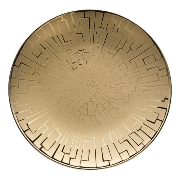 Rosenthal TAC Skin Gold Brotteller 16 cm