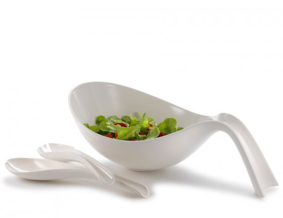 V&B Flow Salatset 3-teilig weiß
