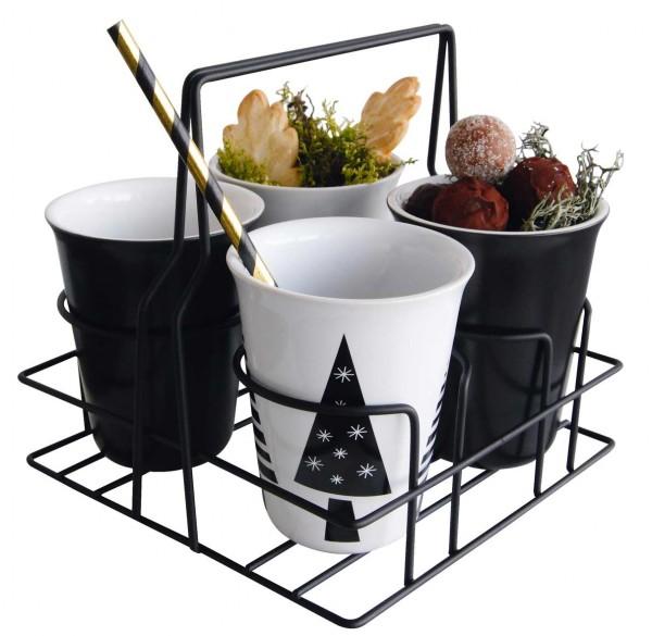 ASA Dining coppetta Becherträger schwarz beschichtet 17,5 x 17,5 cm