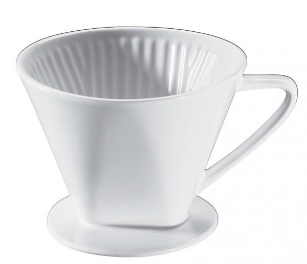 Cilio Keramik Kaffeefilter Größe 4 weiss