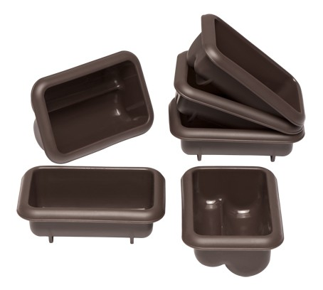 Lurch Flexiform Brotform Mini Stollen 6er Set braun