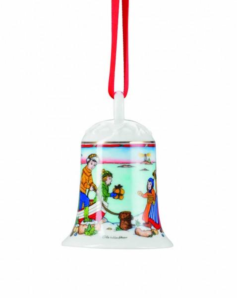 Hutschenreuther Porzellan-Glocke Weihnachtsglocke 2015