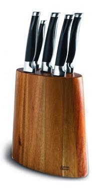 Jamie Oliver Messerblock Akazienholz mit 5 Messern