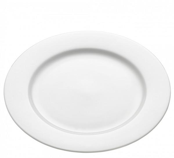 M&W White Basics Round Teller rund mit Rand 23,0 cm