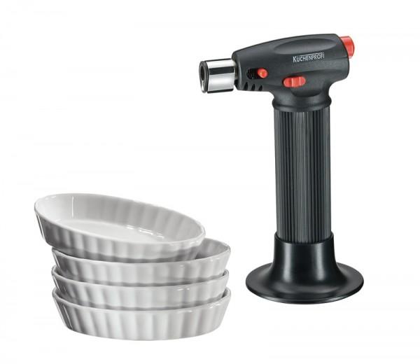 Küchenprofi Creme Brulee Set 5tlg. incl. Brenner schwarz