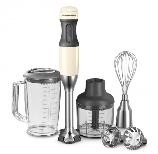 KitchenAid Stabmixer Set creme