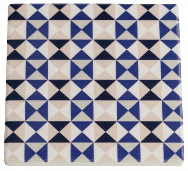 M&W Medina Nador Untersetzer Keramik/Kork 9,5 x 9,5 cm