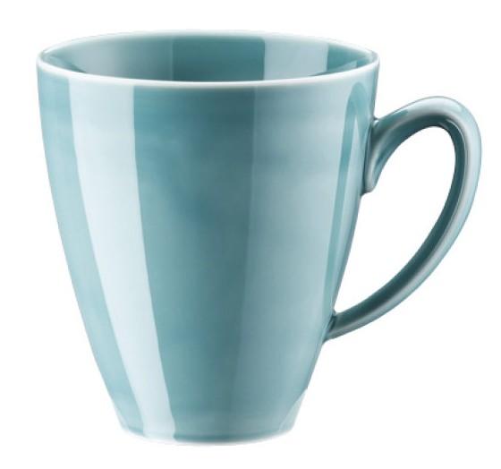 Rosenthal Mesh Colours aqua Becher mit Henkel 0,35 L