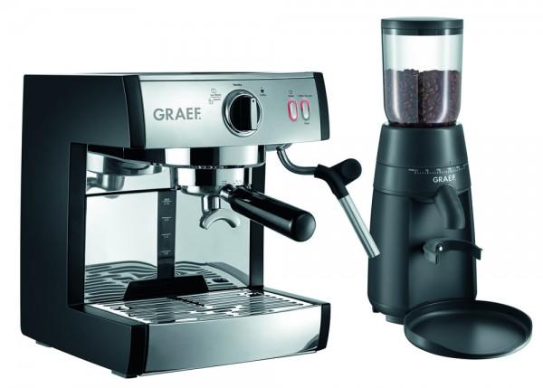 Graef Siebträger-Espressomaschine pivalla SET (ES702 & CM702)