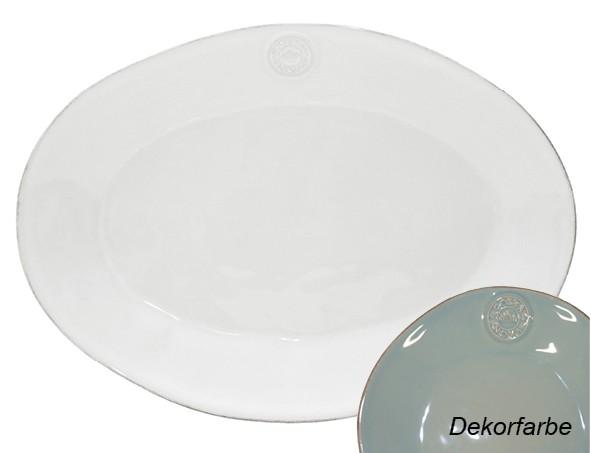 Costa Nova türkis Platte oval 40 cm