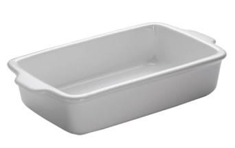 M&W White Basics Kitchen Auflaufform eckig 32 cm