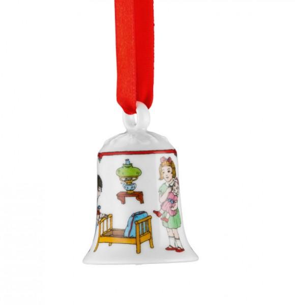 Hutschenreuther Ole Winther Editionen 2016 Porzellan-Miniglocke Puppenbett
