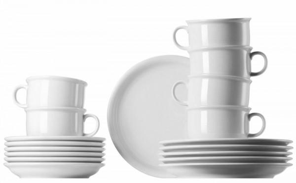 Thomas Trend weiß Set mit Cappuccino Tassen 18-teilig