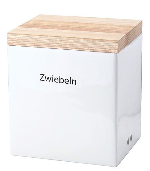 Continenta Vorratsdose aus Keramik mit Holzdeckel 20,5 cm