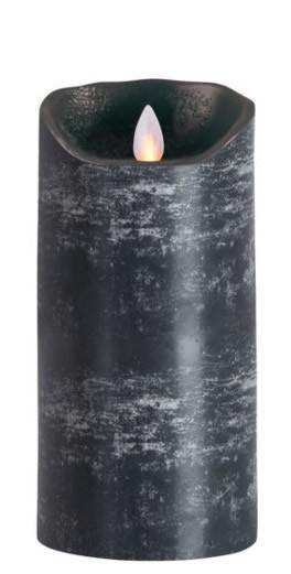 Sompex Flame LED Echtwachs Kerze anthrazit 18,0 cm
