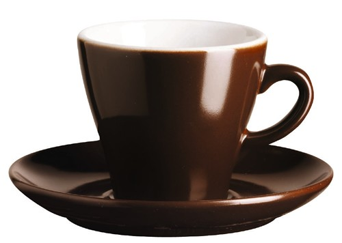 ASA Dining Cappuccinotasse mit Untertasse schoko 0,17 L
