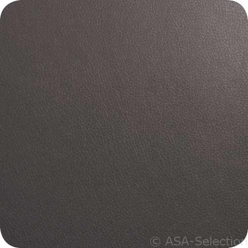 ASA Glasuntersetzer in Lederoptik 4er Set 10 x 10 cm basalt