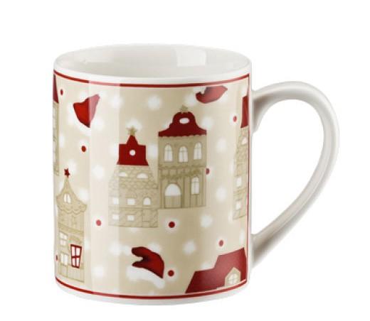 Hutschenreuther Little Christmastown Becher mit Henkel Häuser 0,25 L