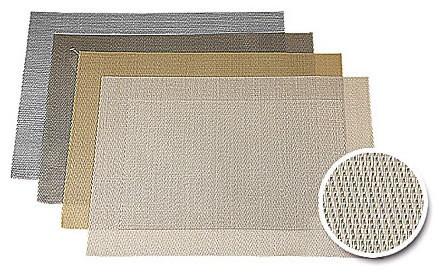 ASA Tischset mit gewebtem Rand 33,0 x 46,0 cm sand metallic