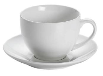 M&W White Basics Round Teetasse mit Untertasse 0,24 L