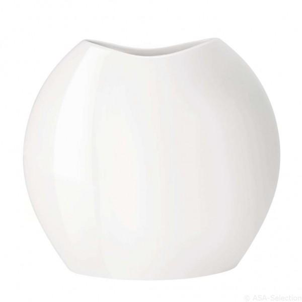 ASA Living Vase Moon weiß glänzend 18 cm