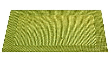 ASA Tischset mit gewebtem Rand 33,0 x 46,0 cm kiwigrün