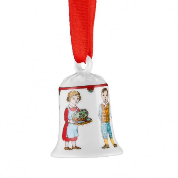 Hutschenreuther Ole Winther Editionen 2016 Porzellan-Miniglocke Weihnachtskuchen
