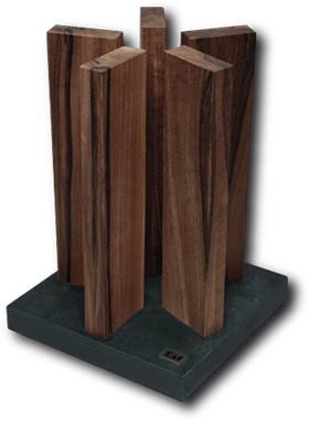 Kai STH-4 Messerblock Stonehenge für 10 Messer Granit / Walnuss