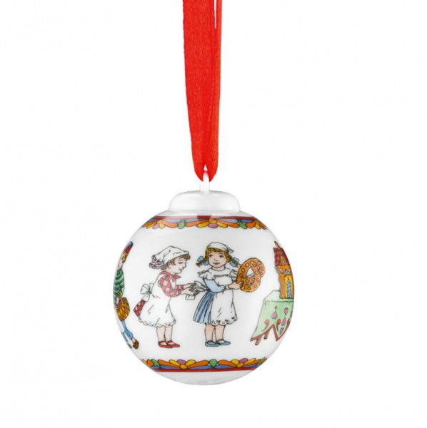 Hutschenreuther Ole Winther Editionen 2016 Porzellan-Minikugel Weihnachtsgebäck