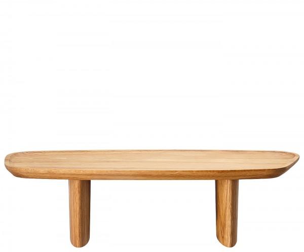 Rosenthal Junto Holz Tablett auf Fuß 40 x 18 cm