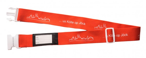 VKG Koffergurt ... us Kölle op Jöck mit Klickverschluss