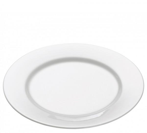M&W White Basics Round Teller rund mit Rand 19,0 cm