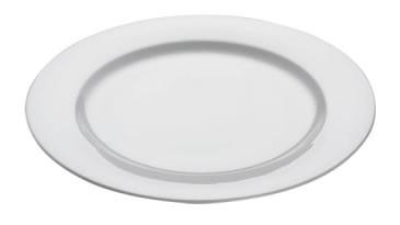 M&W White Basics Round Teller 30,0 cm Fahne