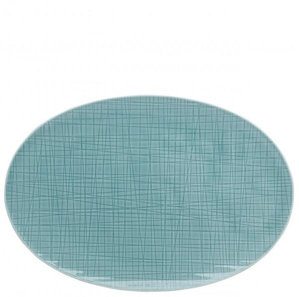Rosenthal Mesh Colours aqua Platte oval 30 x 20 cm