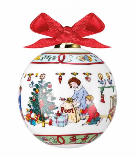 Hutschenreuther Porzellan-Kugel Weihnachtskugel 2014