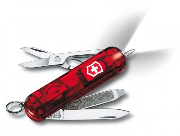 Victorinox Signature LiteTaschenmesser rot transparent