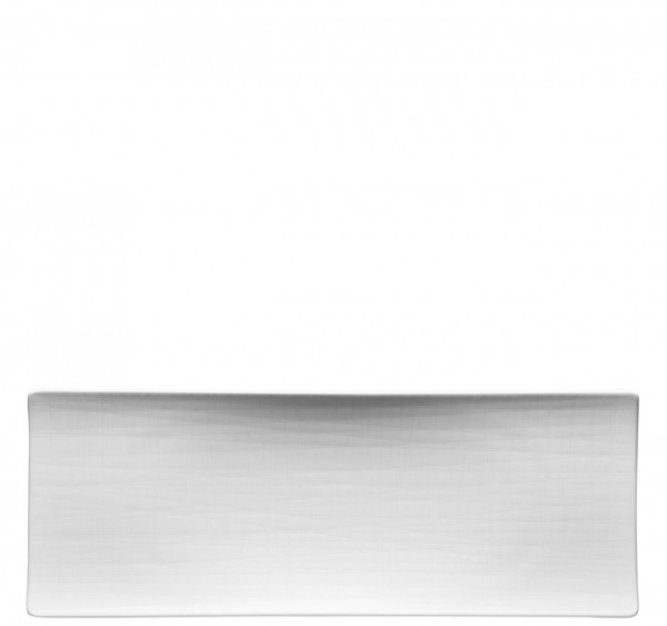 Rosenthal Mesh weiß Platte flach 34 x 13 cm