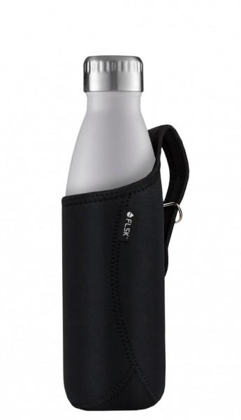 FLSK Neoprentasche für Isolierflasche schwarz 0,5 liter