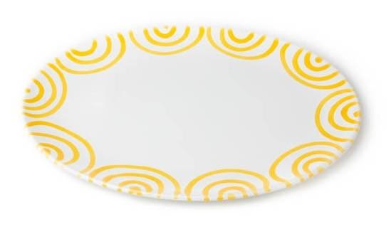 Gmundner Gelbgeflammt Platte oval 33 x 26 cm