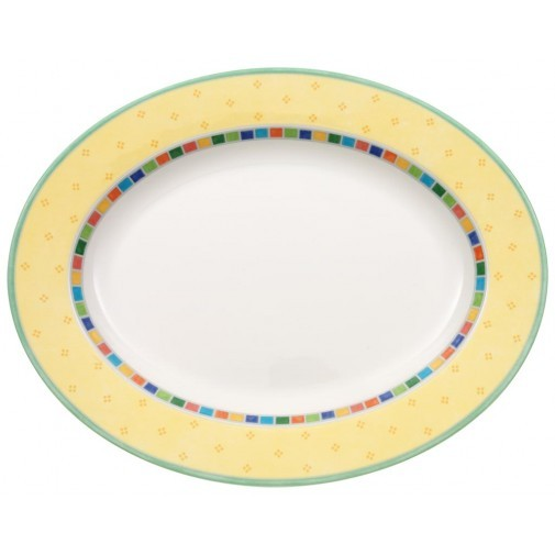 V&B Twist Alea Limone Platte oval 34,0 cm