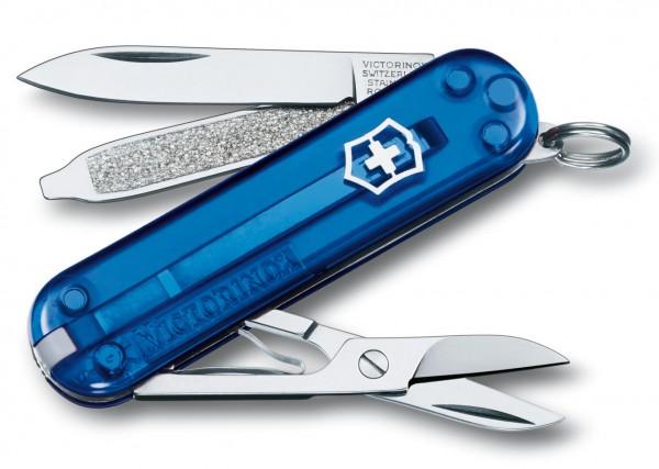 Victorinox Classic Taschenmesser blau transparent