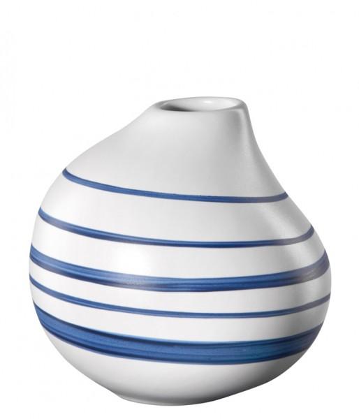 ASA Living Vase Calabash weiß matt mit blauen Streifen 11 cm