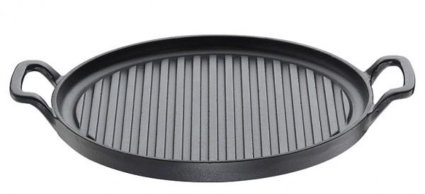 Küchenprofi Provence Grillfanne rund mit 2 Griffen 26 cm schwarz