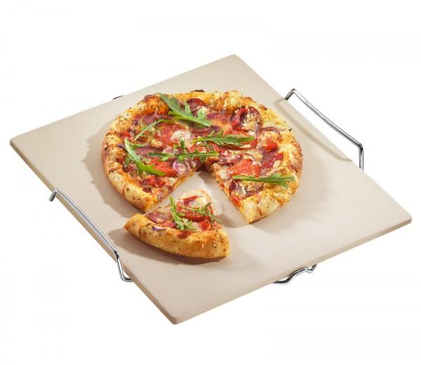 Küchenprofi Pizzastein mit Gestell